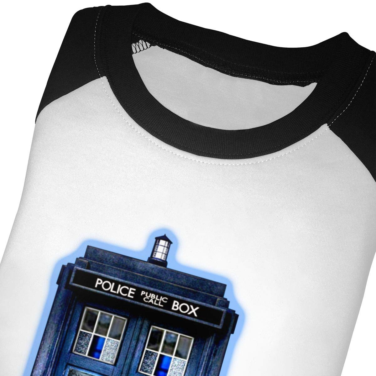 Phone Box Doctor with Bad Wolf Graffitii Unisex Toddler Baseball Jersey Contrast 3//4 Sleeves Tee