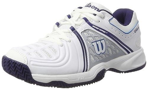 Womens Tour Vision V W Tennis Shoes, White/Pearl Blue/Astral Aura, Size 7.5 (EU 41 1/3) Wilson