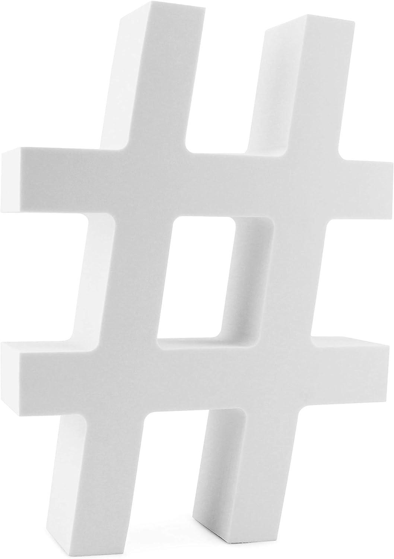 Cornucopia 12-Inch EVA Foam Letter Symbol Hashtag for Events, Parties, Weddings and Businesses
