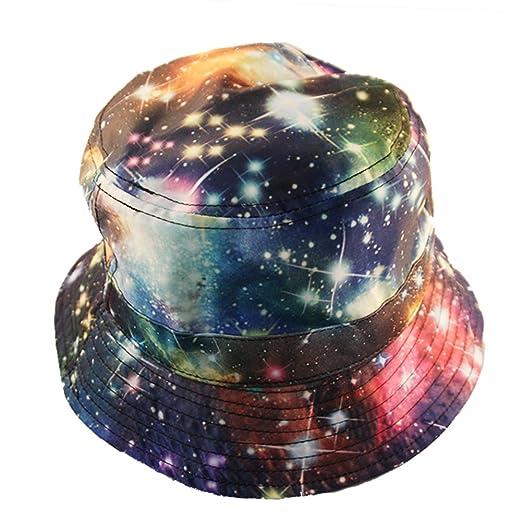 Rainbow Galaxy Print Bucket Hat at Amazon Men s Clothing store  76934db3a3d