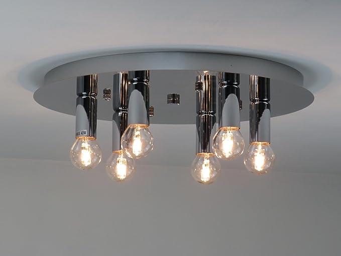 Plafoniera Per Bagno Design : Plafoniera lampadario design moderno cromo illuminazione interni