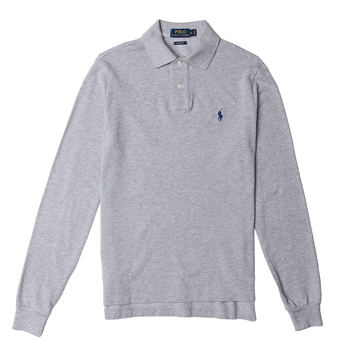 Amazon Polo Ralph Lauren Mens Custom Fit Mesh Long Sleeve Polo