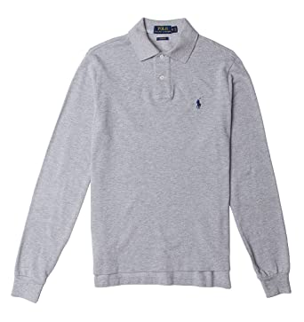 019325b6dc22 Image Unavailable. Image not available for. Color  Polo Ralph Lauren Men s Custom  Fit Mesh Long Sleeve Polo Shirt L Andover Heather Grey