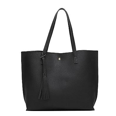 504198fe26 Promini Women Girls Tassels Leather Bag Fashion Top Handle Satchel ...