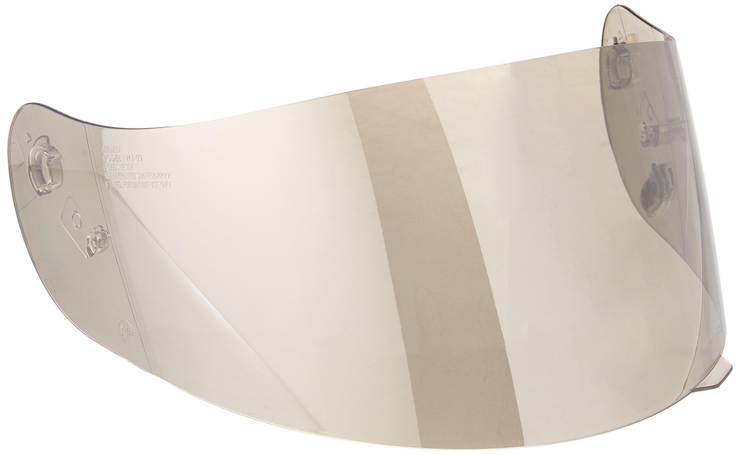 HJC Helmets HJ-09 Unisex-Adult Full-Face-Helmet-Style Replacement Helmet Face Shield (Silver,One Size)
