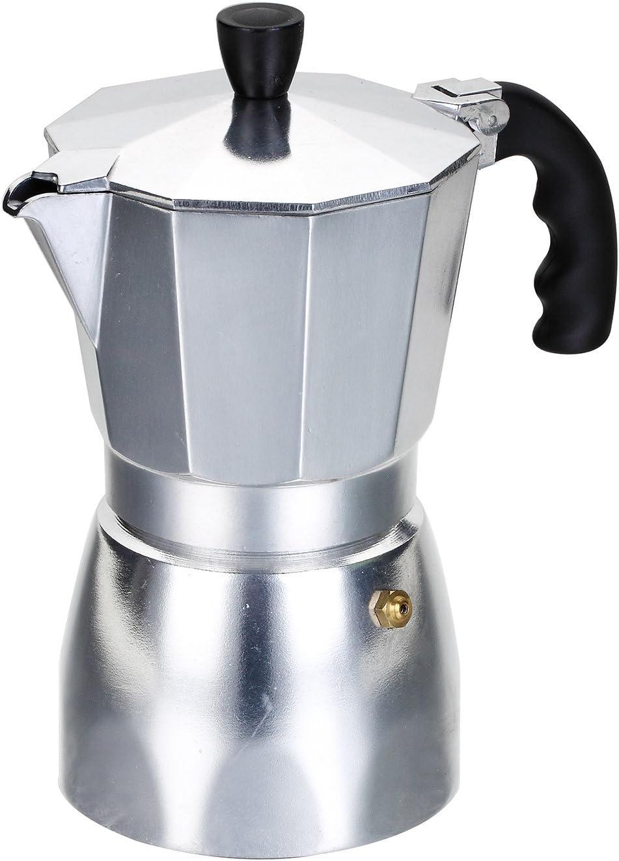Rossetto - Cafetera italiana Express de aluminio, Negro , 3 Tasses: Amazon.es: Hogar