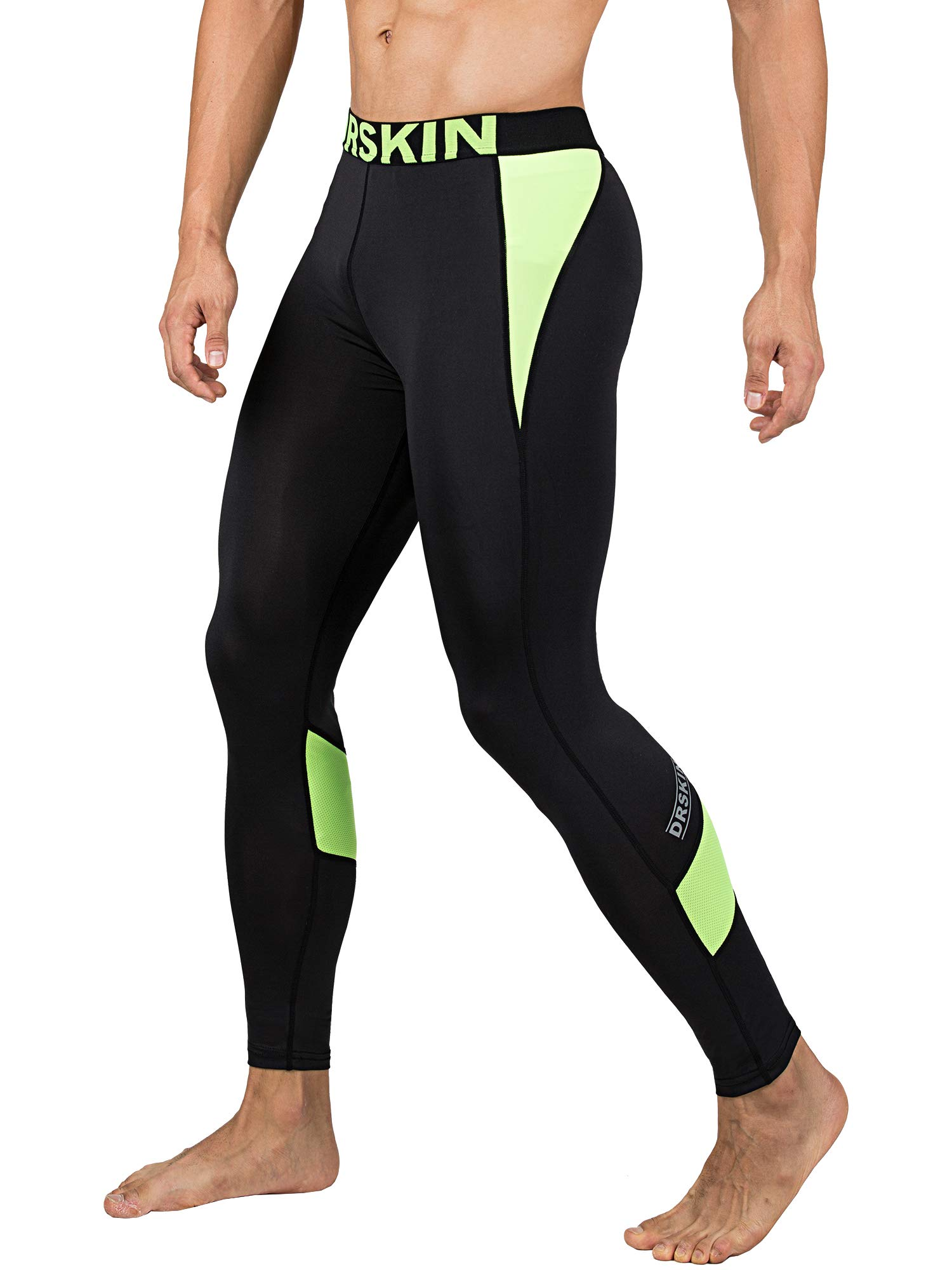 DRSKIN 1~3 Pack Men's Compression Dry Cool Sports Tights Pants Baselayer Running Leggings Yoga (Packs of 1, 2, or 3 Deals) (Came B-LG04, S)