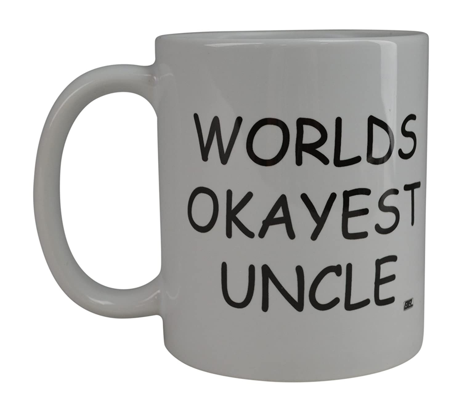 Rogue River Funny Coffee Mug Wolds Okayest Uncle Novelty Cup Great Gift Idea For Office Gag White Elephant Gift Humor Uncle Rogue River Tactical RR-1058
