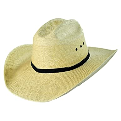 89b7406ddef5 Cattleman Guatemalan Palm Leaf Straw Hat at Amazon Men s Clothing store