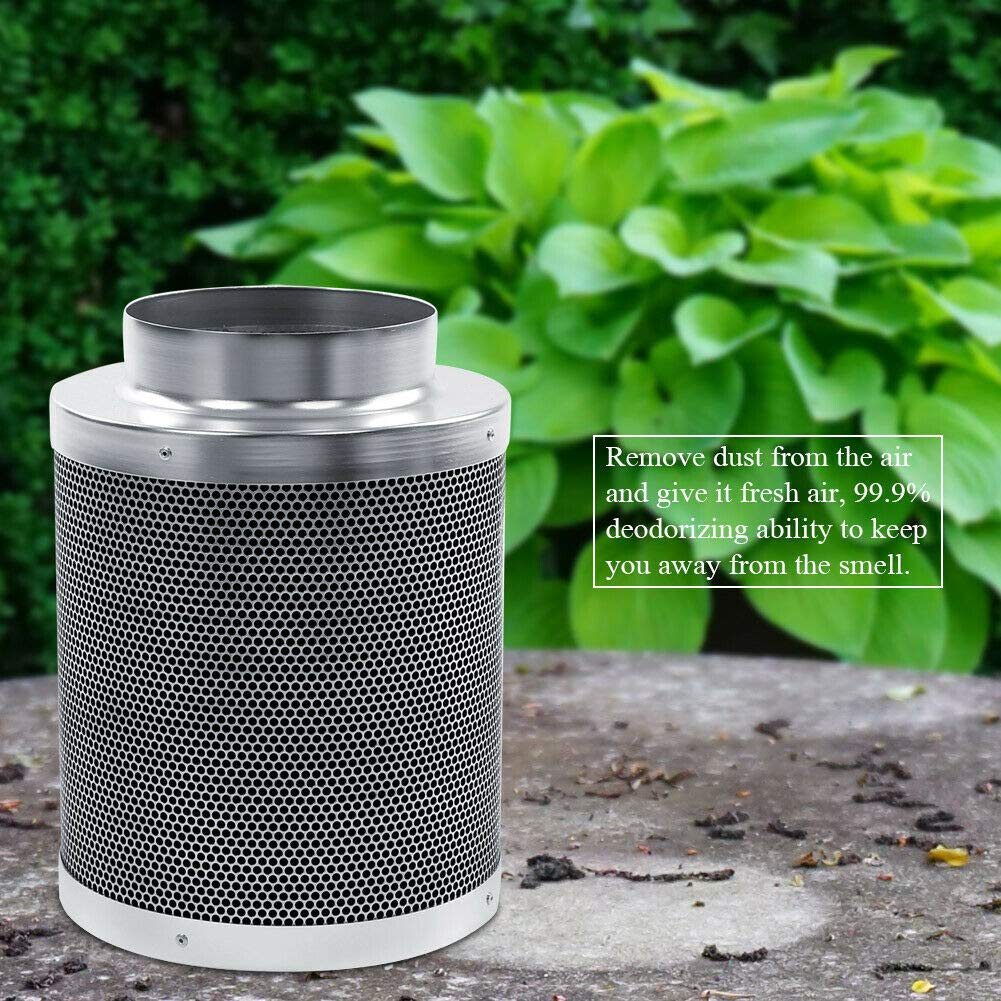 Shwk 6 Inch Activated Carbon Filter Charcoal Hydroponic Grow Odor Ducting 300mm by Shwk