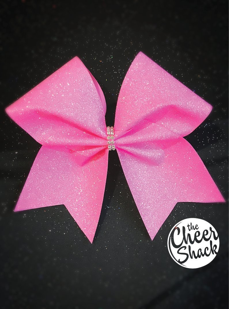 Light Pink Glitter Cheer Bow, Cheer Bow