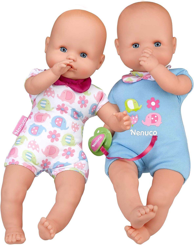 Nenuco Twins - Muñecos bebés Hermanos Gemelos para niños y niñas de 1 a 3 años (Famosa 700015451)
