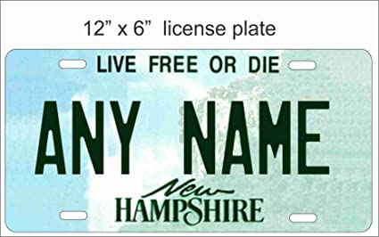 """NEW HAMPSHIRE custom novelty bicycle mini license plate name or text 4/""""x9/"""""""