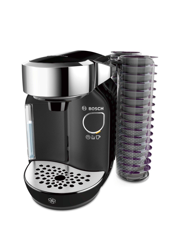 Bosch TAS7002 Independiente 1.2L Negro - Cafetera (Independiente, 1,2 L, Cápsula de café, Negro)