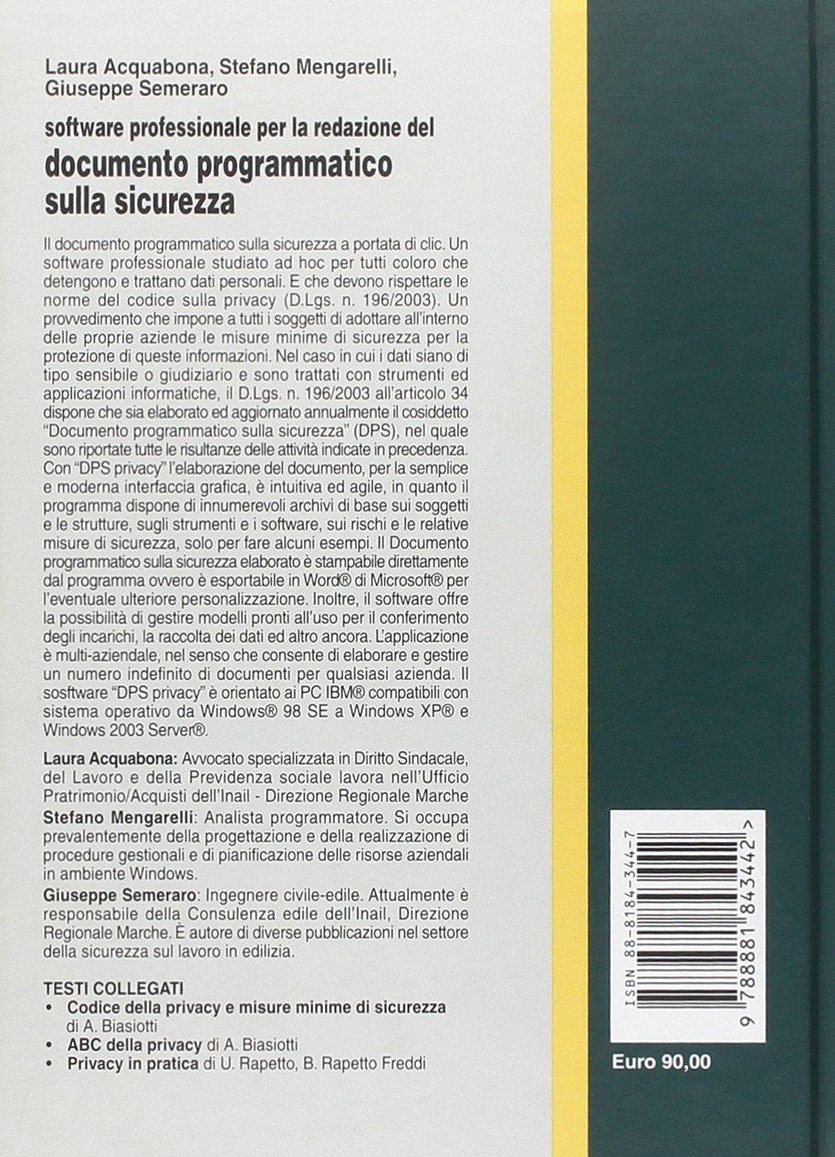 software documento programmatico sicurezza