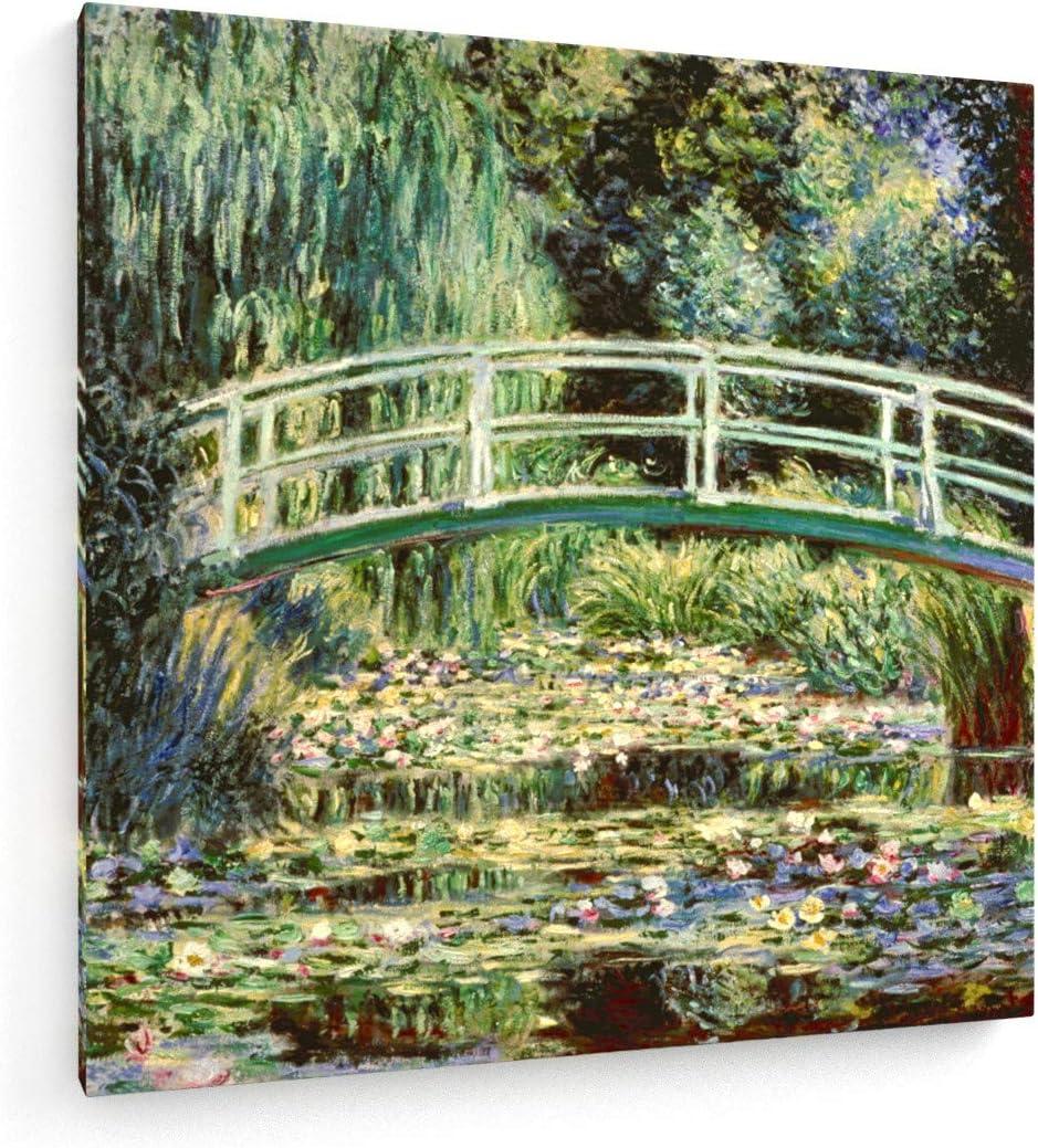 weewado Claude Monet - Las ninfas Blancas - 1899-80x80 cm - Impresion en Lienzo - Muro de Arte - Canvas, Cuadro, Poster - Old Masters/Museum