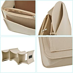 32bdfdbca90 Felt Backpack Organizer Insert for Rucksack Handbag Shoulder Bag