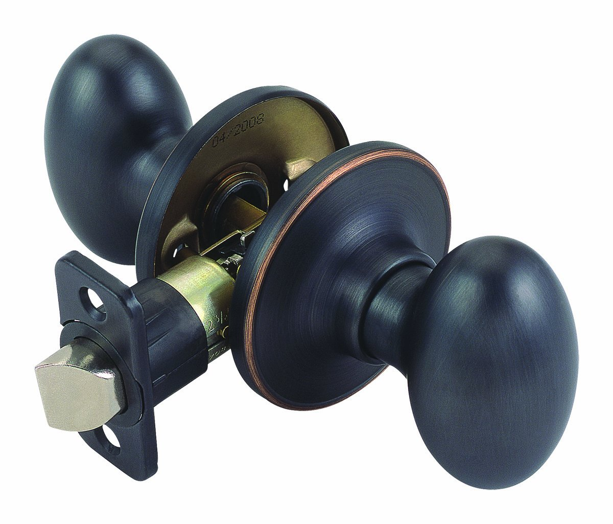 Design House 740472 Egg 2-Way Adjustable Passage Door Knob, Oil Rubbed Bronze
