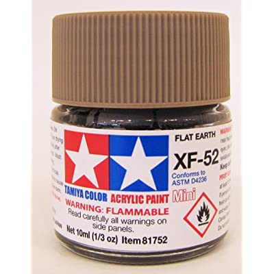 TAMIYA 81752 Acrylic Mini XF52 Flat Earth 1/3 oz: Toys & Games