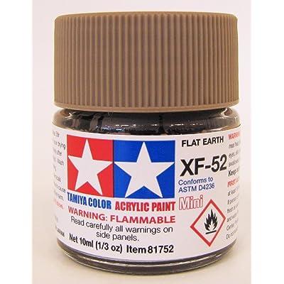 TAMIYA 81752 Acrylic Mini XF52 Flat Earth 1/3 oz: Toys & Games [5Bkhe1402547]