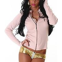 Jela London Chaqueta con capucha para mujer con motivos deslizantes y letras doradas (34-40)