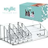 Acrylic Lipstick Makeup Cosmetic Organizer - Great for Organizing your Lipstick Nail Polish Makeup Brushes keep your Vanity Dresser Bathroom Organized with this Acrylic Display & Drawer AcryliCase