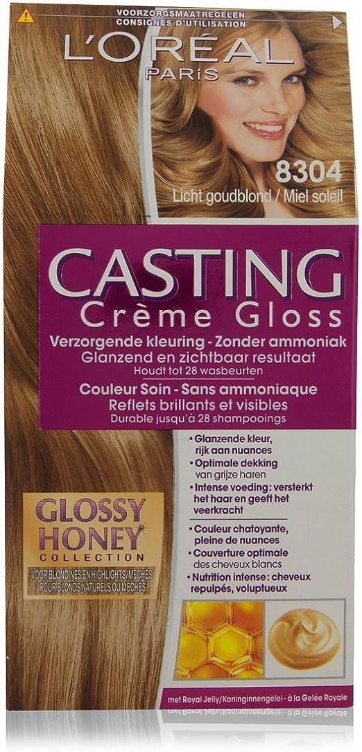 LOréal Paris Casting Crème Gloss 8304 coloración del cabello Rubio - Coloración del cabello (Rubio, Sunny Honey, Bélgica, 73 mm, 83 mm, 170 mm)