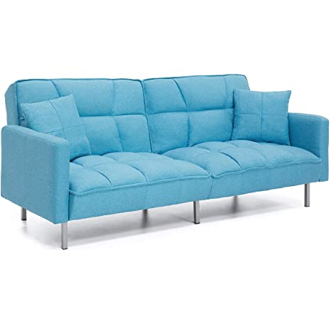 Amazon.com: Sofá de 2 almohadas de felpa con diseño versátil ...