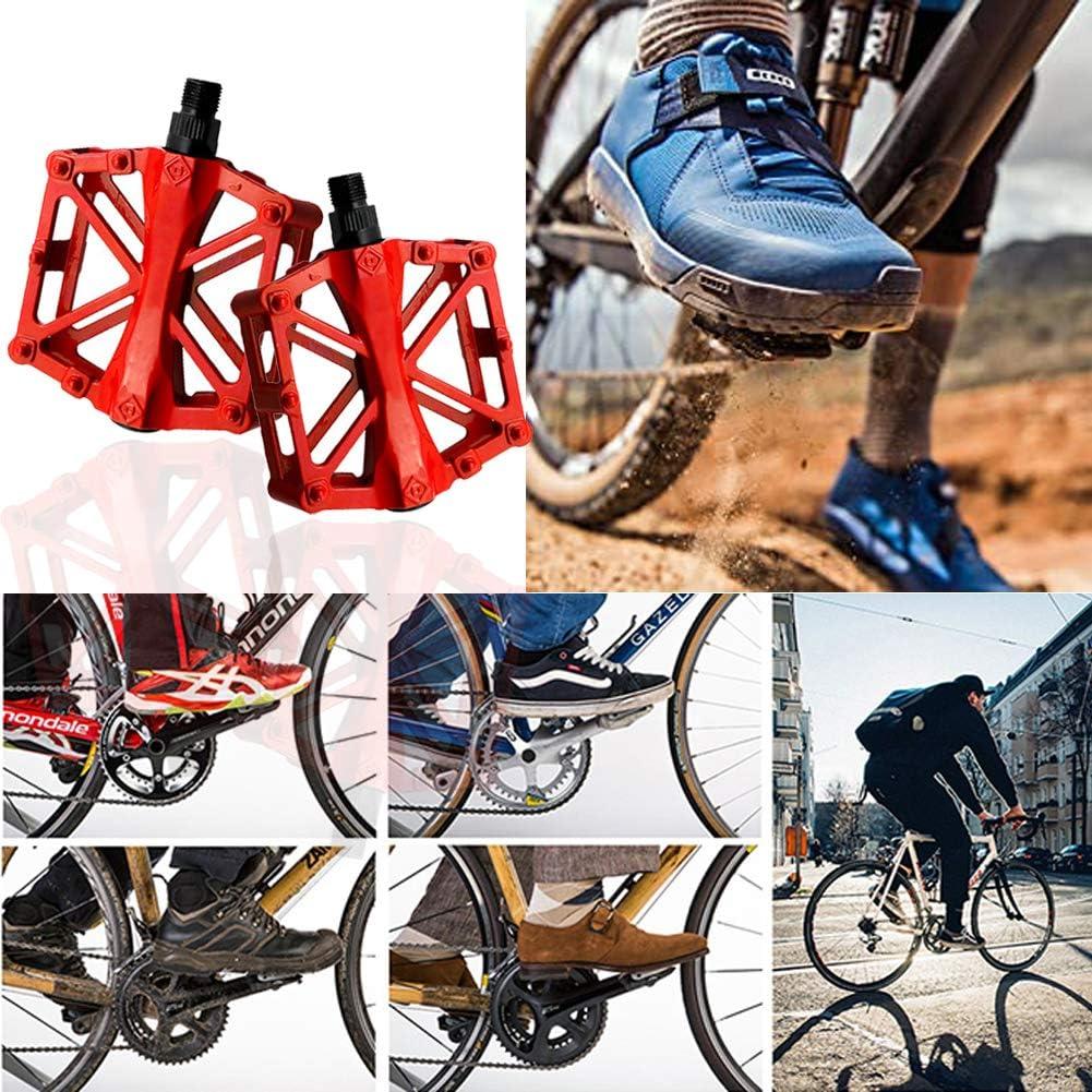 Monta/ña ZONSUSE Pedales MTB Antideslizante Durable De Ligeros Pedali Bicicleta Pedal De Aluminio Rodamiento De Acero Cromado 9//16para Mountain Bike Trekking Carretera BMX