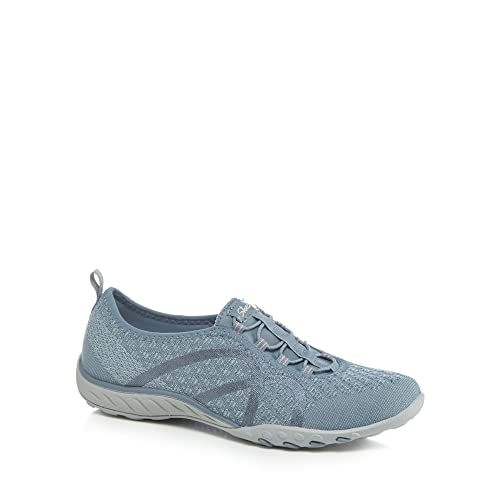 Blue 'Breathe Easy Fortune-Knit' slip-on trainers discount factory outlet under $60 sale online 2015 online wide range of cheap online 24ctxS9aiF