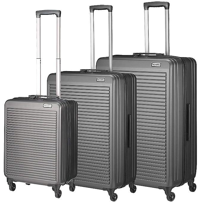 Travelite Tecno Juego de maletas (4 ruedas) antracita 3-pc.: Amazon.es: Ropa y accesorios