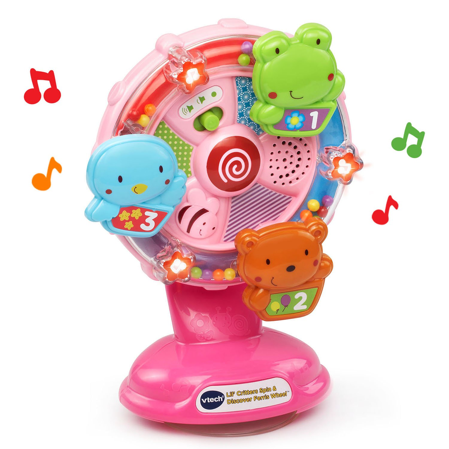 VTech Lil' Critters Spin and Discover Ferris Wheels, Pink (Amazon Exclusive) by VTech (Image #3)