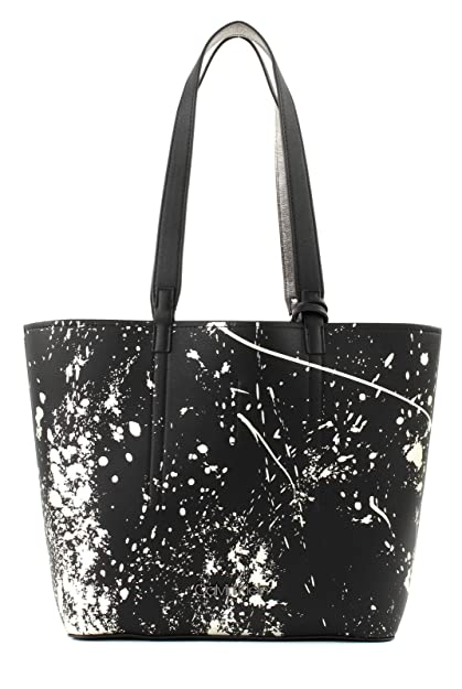 8f542f9d42 Calvin Klein Inside Out Medium Shopper Bag Black Splash Print ...