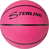 """Sterling Neon Pink Junior & Youth Size 5 (27.5"""") Indoor/Outdoor Rubber Basketball"""