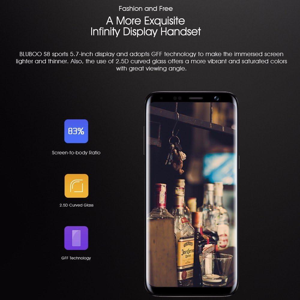 BLUBOO S8 4 G Smartphone Android 7.0 5.7 HD 18: 9 Pantalla ...