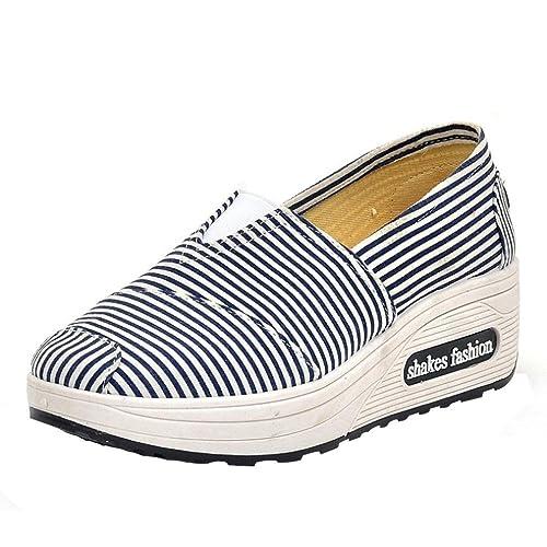 Zapatillas Sin Cordones para Mujer, Logobeing Zapatos Deportivos de Lona de Ocio de Cabeza Redonda Transpirable Corriendo Deportes Gimnasio: Amazon.es: ...