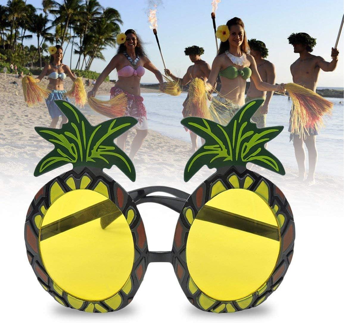 LouiseEvel215 Nouveaut/é Hawaiian Beach Style Dr/ôle Ananas Forme Lunettes de Soleil Lunettes de Protection pour D/éguisements Party Event Fournitures