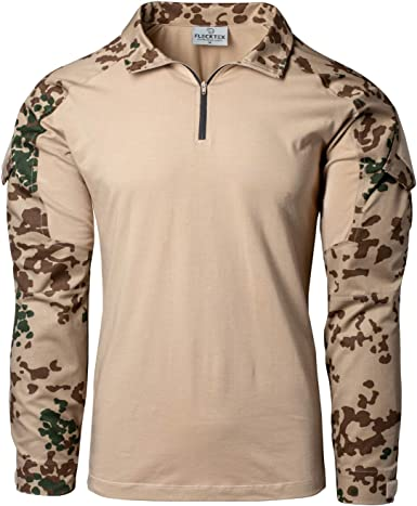 FLECKTEX® Combat 5FTD - Camisa táctica de camuflaje para ...