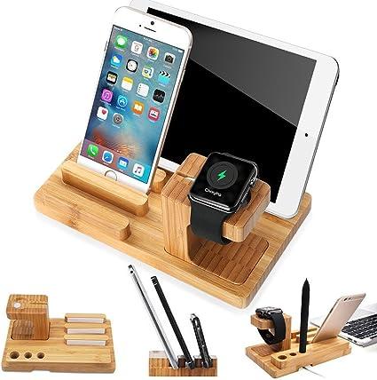 Lobwerk Soporte de Tableta De Madera Soporte de Mesa Universal para Smartphone, iPhone, iPad, e-Reader y más marrón Style 3: Amazon.es: Informática