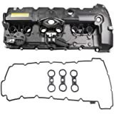 MOSTPLUS 11127552281 Engine Valve Cover Compatible for BMW E70 E82 E90 E91 Z4 X3 X5 128i 328i 528i
