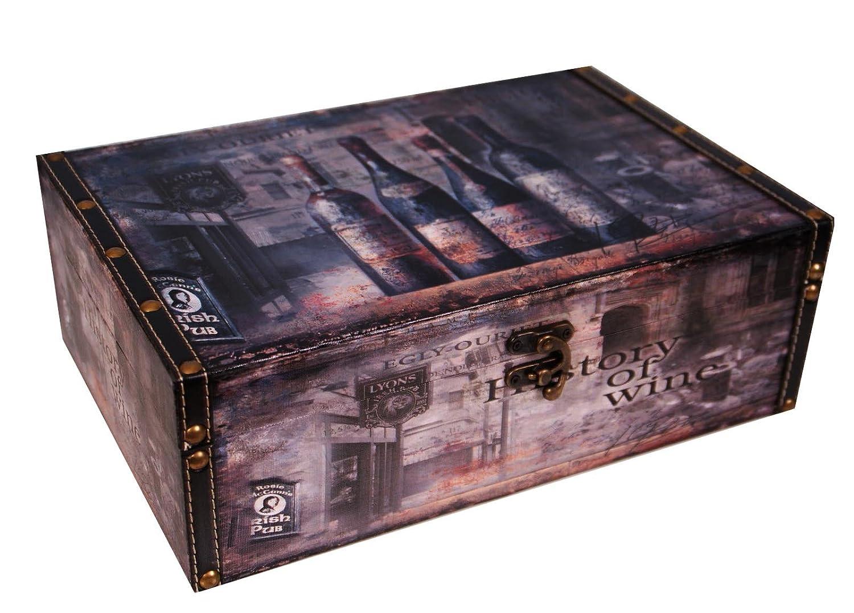 Botellas de vino titular caja regalo perfecto doble almacenamiento Decoupage,: Amazon.es: Hogar