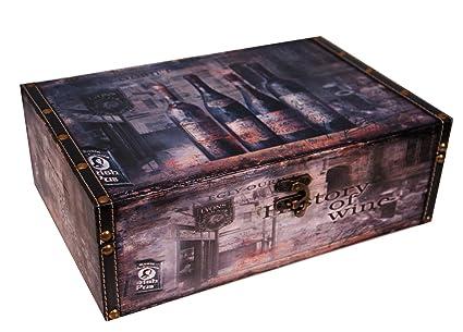 Botellas de vino titular caja regalo perfecto doble almacenamiento Decoupage ,