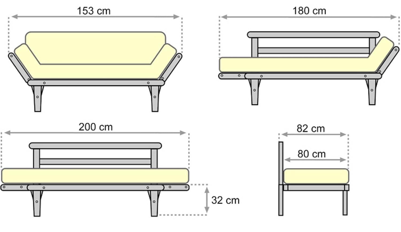 200x82x32 cm Futon Rouge Wenge Canap/é-lit S/ésamo
