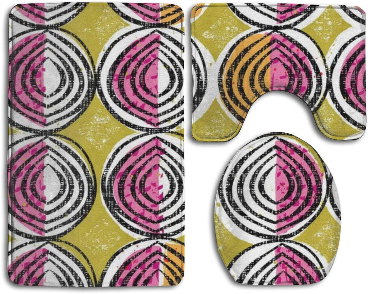 Taroot AA Verduras africanas Alfombra de baño de Franela cómoda Alfombrillas Set 3 Piezas Suave