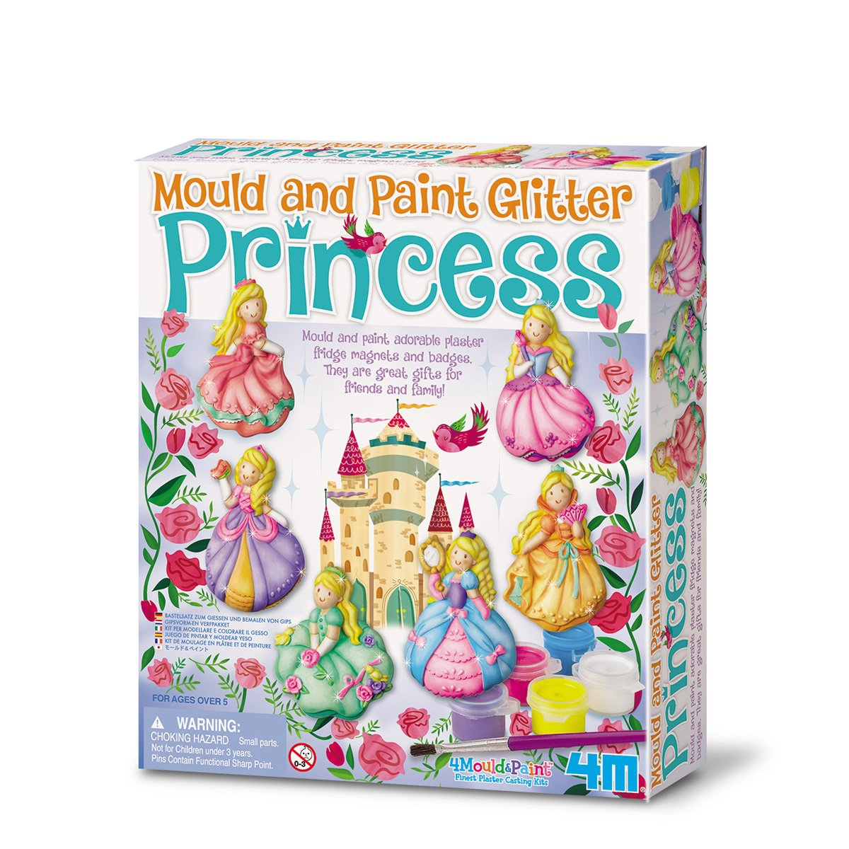 The Sales Partnership 4M 2019'' Glitter Princess Mould and Paint - Multi-Coloured