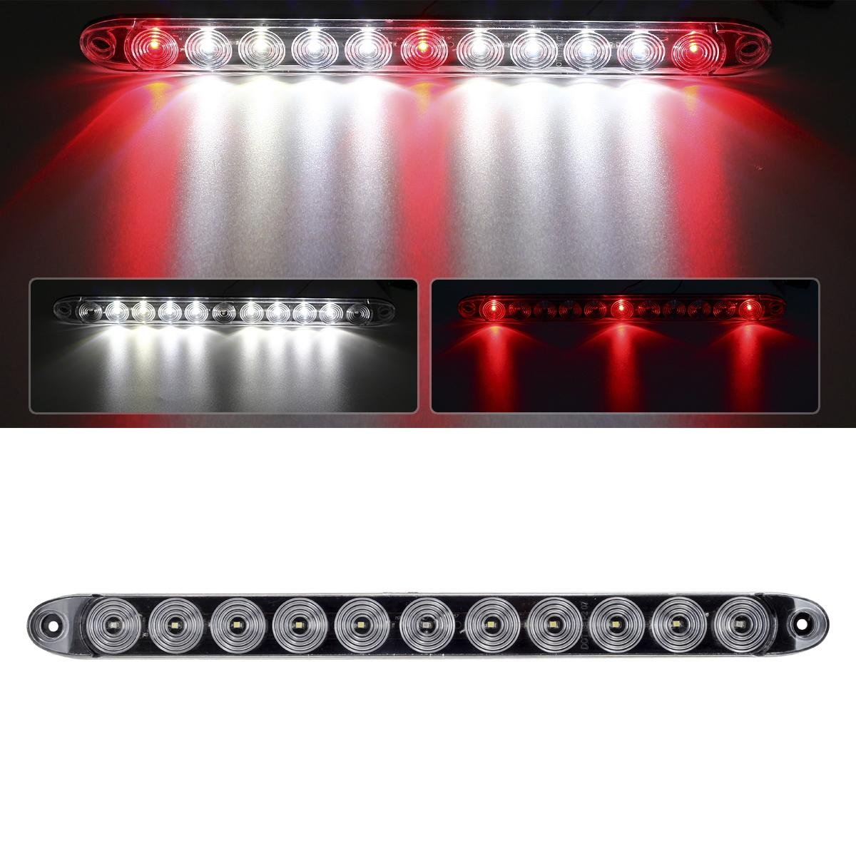 Amazon.com: Partsam 1x Truck Trailer Brake Red 3 LED w/ Reverse ...