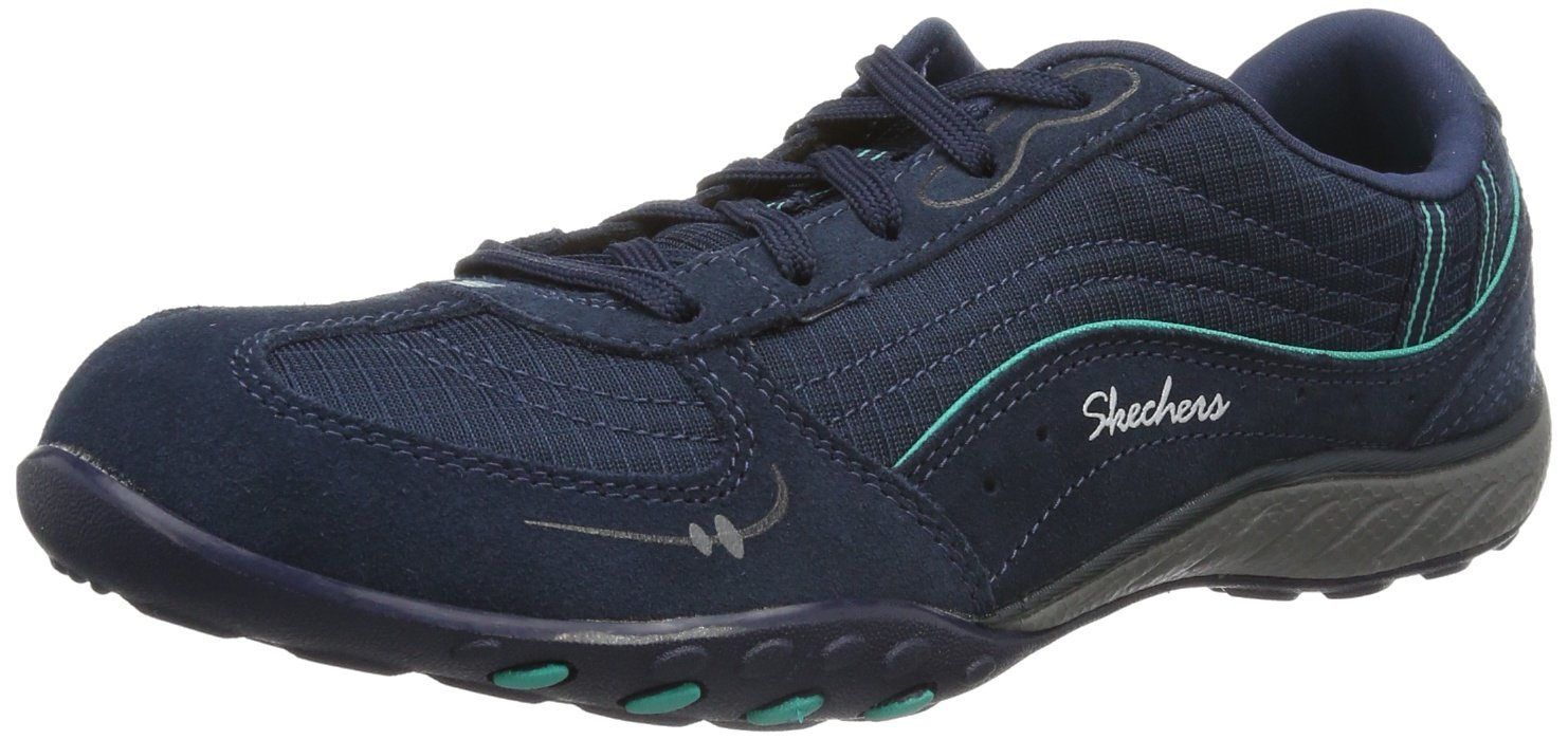 Skechers Breathe-Easy Just Relax Damen Sneakers  35 EU|Blau (Nvaq)