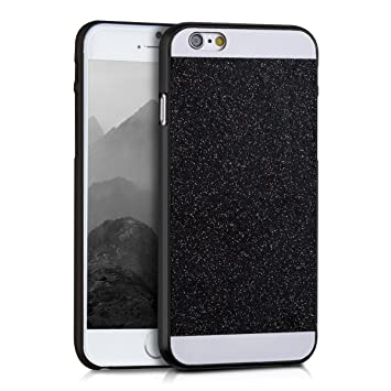 kwmobile Funda para Apple iPhone 6 / 6S - Carcasa [Trasera] Protectora para móvil - Cover Duro en [Negro/Blanco]