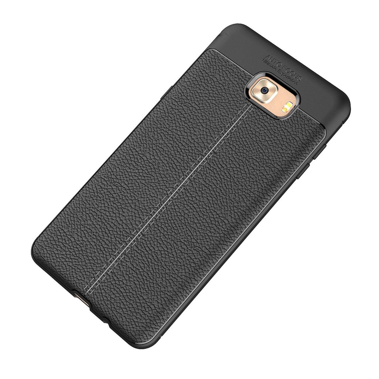 Samsung Galaxy C9 Pro Funda, Ultra Ligero Case Amortiguación Rugged Silicona Ultra Delgado Cubierta Protectora Fibra Carbono Caso Para Samsung Galaxy C9 Pro case - Negro: Amazon.es: Hogar
