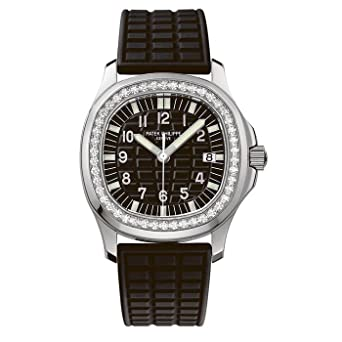 3d1a7305b Amazon.com: Patek Philippe Ladies Aquanaut 35mm Stainless Steel Watch on  Rubber Strap 5067A-001: Watches